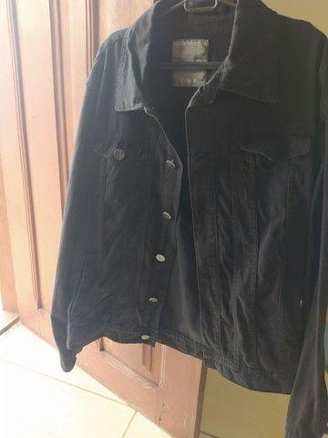 Jaqueta jeans preta - Foto 2
