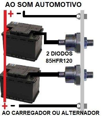 Diodo 85a 1200v Para Carregador De Bateria 85hfr120 Original - Foto 4