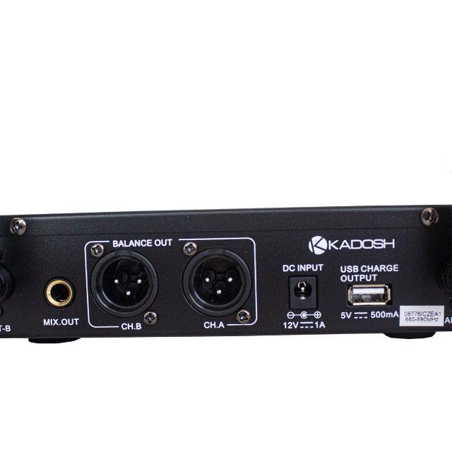 Microfone Kadosh S/ Fio  Duplo K-502m - Foto 6