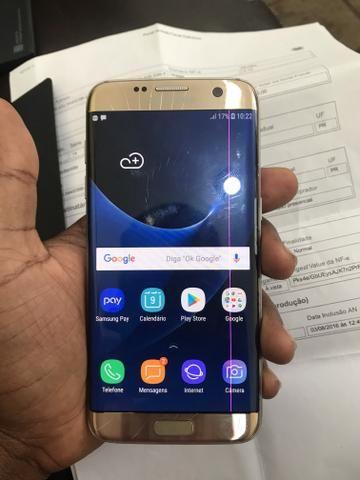 Galaxy S7 Edge trincado com nota fiscal