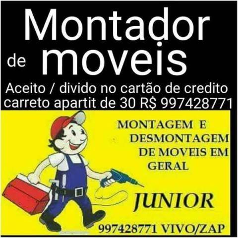Montador de moveis guincho para moto 24 hrs aceito cartao