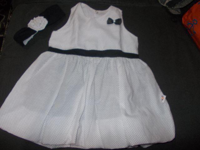 Vestido para bebe tamanho M + tiara