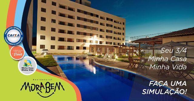 Excelente Apartamento em Parnamirim, 3 dormitórios, MCMV, Condomínio Clube