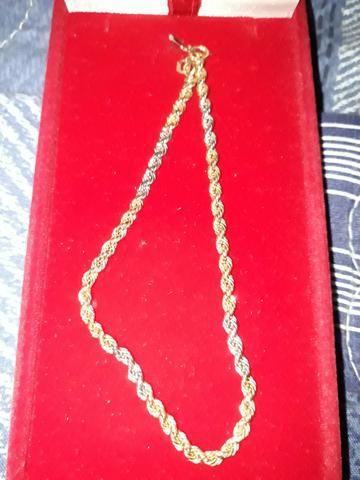 Pulseira de Ouro unissex - Nova, caixa original