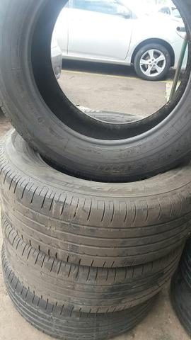 Jogo de pneus aro 18. 60% de borracha