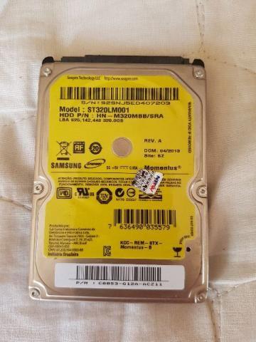 HD 320 GB de notebook samsung original