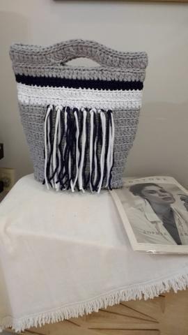 Bolsa de crochê, estilosa e chic