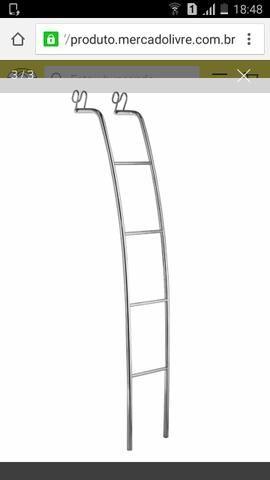 Escada para beliche acabamento cromado