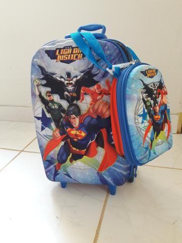Bolsa escolar super man