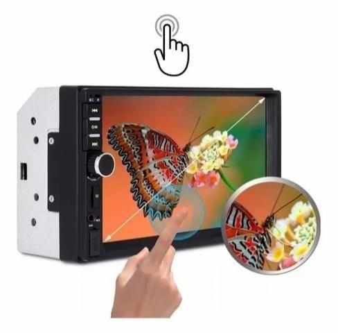 Multimídia FIRST OPTION Universal Espelhamento Bluetooth Câmera de ré - Foto 6