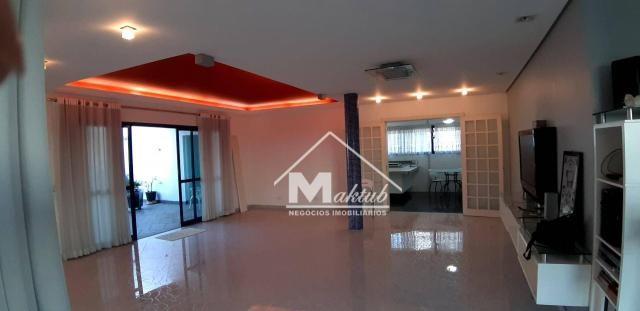 Cobertura com 4 suíte, para alugar, 395 m² por R$ 7.000/mês - Vila Valparaíso - Santo Andr - Foto 2