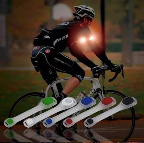 Braçadeira de led flexível para corridas e caminhadas