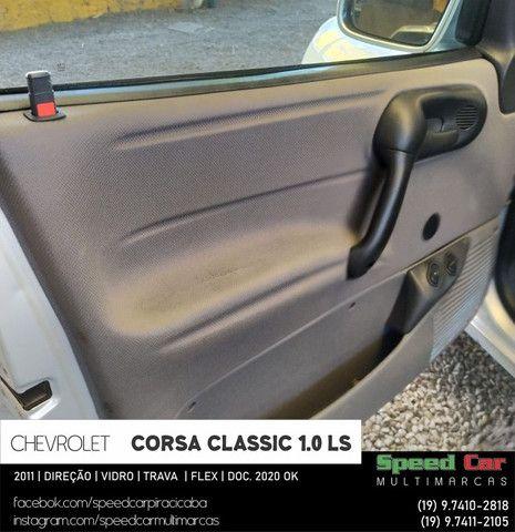 Classic 2011 Novissimo, direção vidro e trava - 1.0 ls flex - só vem - Foto 13