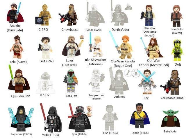 Minifigures (compatível com Lego) DC Marvel e Star Wars - Foto 4