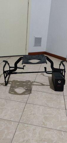 Suporte lateral e traseiro baú GIVI e caixa de ferramentas F800 GS