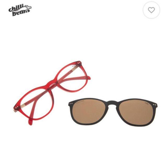 Óculos multi grau/sol vermelho