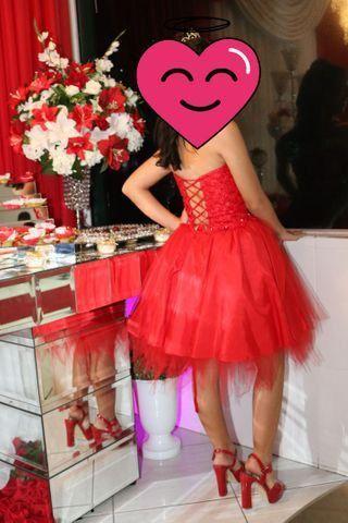Vestido de 15 anos Curto Vermelho  - Foto 2