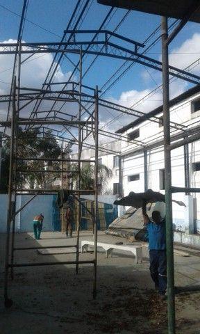 galpão /estrutura / treliça / vigas / ferro - Foto 4
