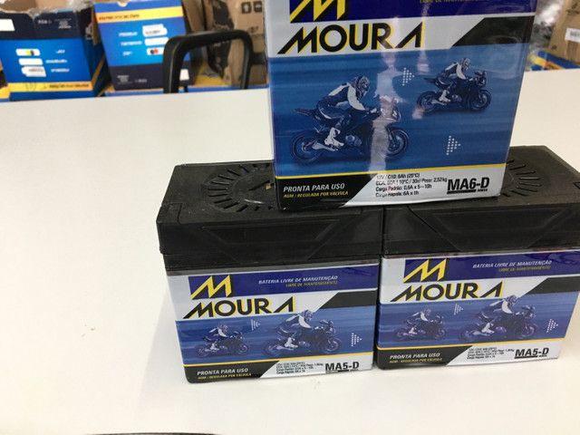 Bateria Moura para fan titan factor entrega em todo Rio  - Foto 4