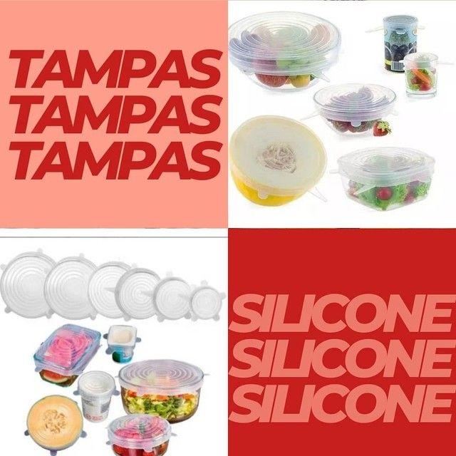 Tampas de silicone