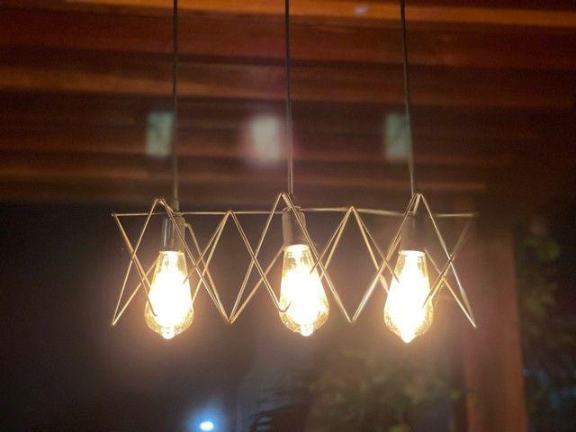 Luminária com lâmpadas de filamento - Foto 3