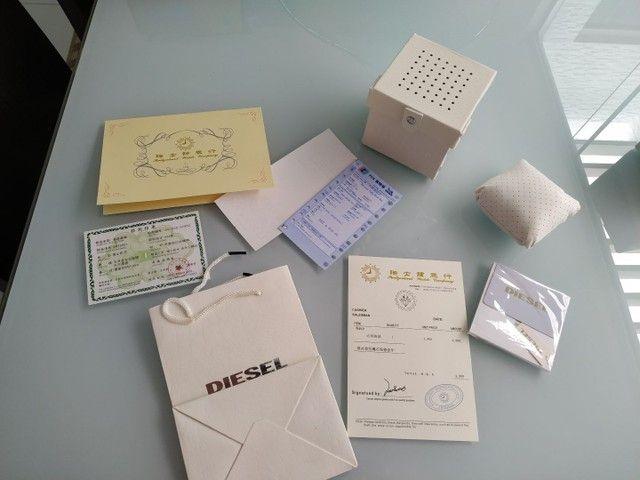 Vendo caixa, documentos e acessórios do relógio Diesel. - Foto 3