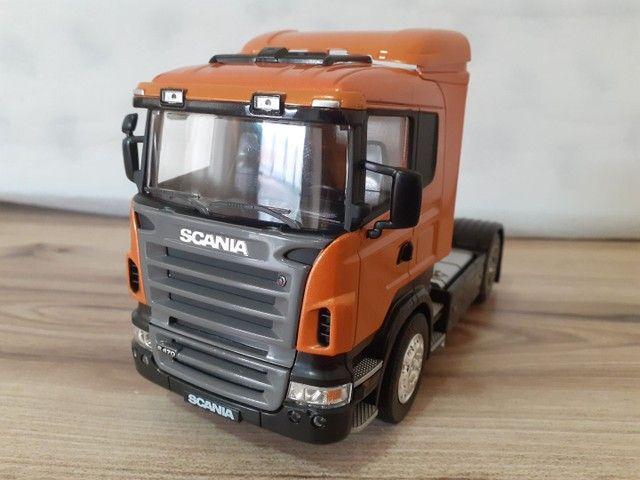 Miniatura caminhão scania R470 metal 1:32