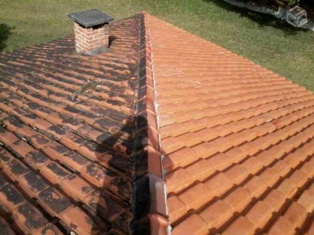 Lavador de telhas de barro