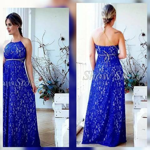 Vestido longo azul G