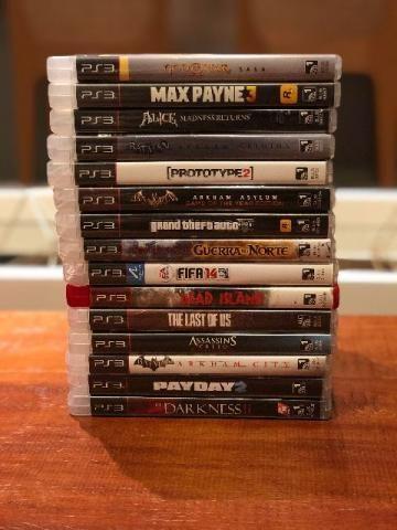 Combo com 15 jogos originais usados de PS3