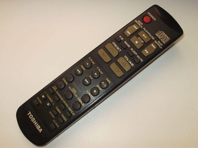 Controle Remoto Som Compact Disk Digital Toshiba Original