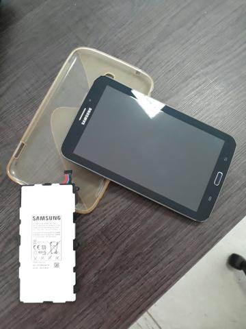 Tablet/ telefone Samsung Galaxy Tab 3, 3g, seminovo com BATERIA ORIGNAL nova