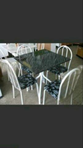 Mesa 4 cadeiras mega oferta