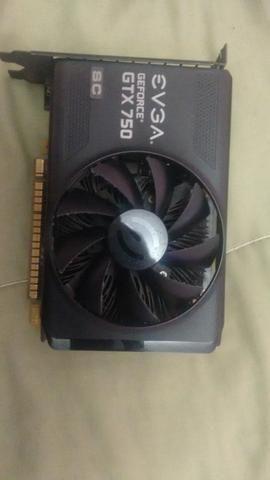Placa de vídeo gtx750 Sc