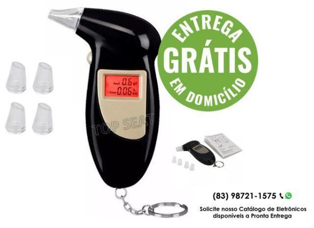Bafômetro Eletrônico Digital com 05 bicos reutilizáveis - Entrega Gratuita