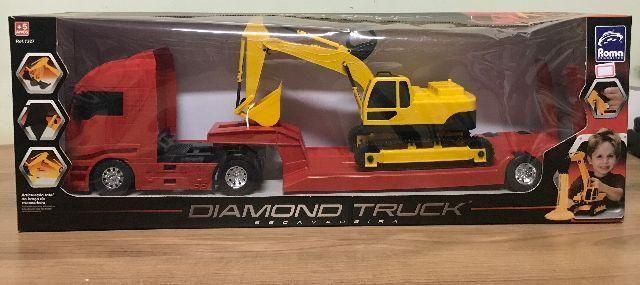 Carreta Diamond Truck Escavadeira