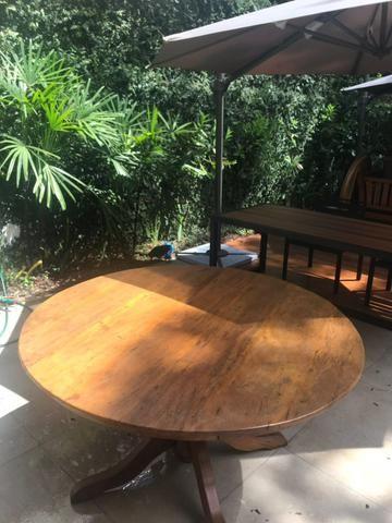 Mesa em madeira de demolição ? PEROBA