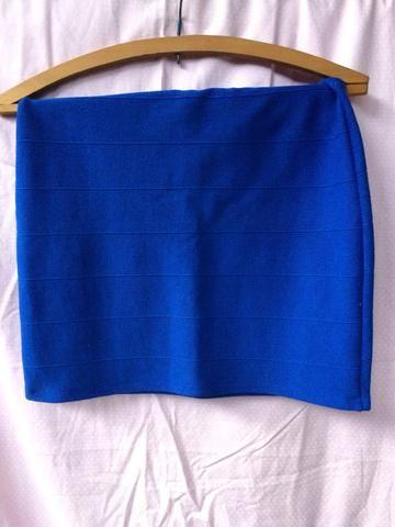 Saia tubinho azul royal