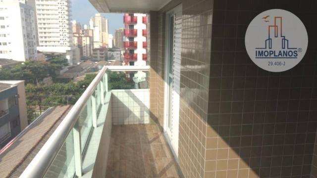 Apartamento com 2 dormitórios à venda, 72 m² por r$ 322.000 - canto do forte - praia grand - Foto 3