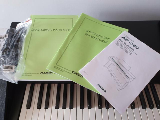 Piano Digital Casio Celviano AP 260 BK Preto c/ Banqueta + Fonte + Livros de lições - Foto 2