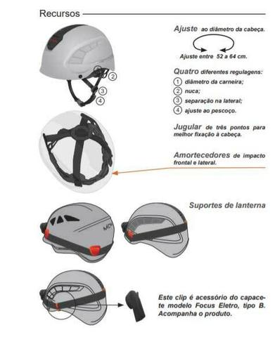 Capacete Montana Focus Classe B Para Altura CA 17098 4e8e1b6930c57