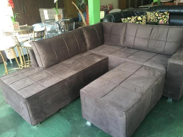 Maravilhoso jogo sofa em canto com 03 peças super luxo ...