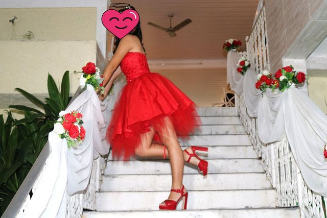 Vestido de 15 anos Curto Vermelho  - Foto 3