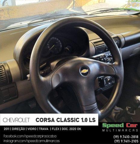 Classic 2011 Novissimo, direção vidro e trava - 1.0 ls flex - só vem - Foto 9