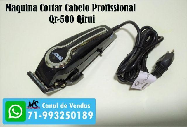 Maquina Cortar Cabelo Profissional 110v Qr-500 Qirui - Foto 4