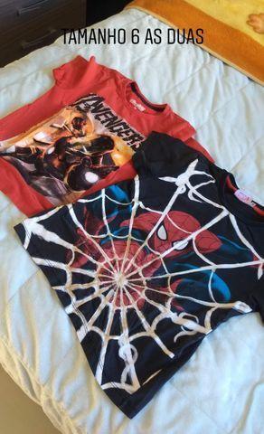 Camisetas infantil menino TAM 6,8 e 10. Preço acessível - Foto 4