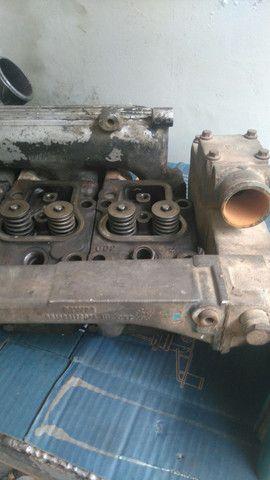 Carbecote de motor mwm seri 10 turbinado e intecolado