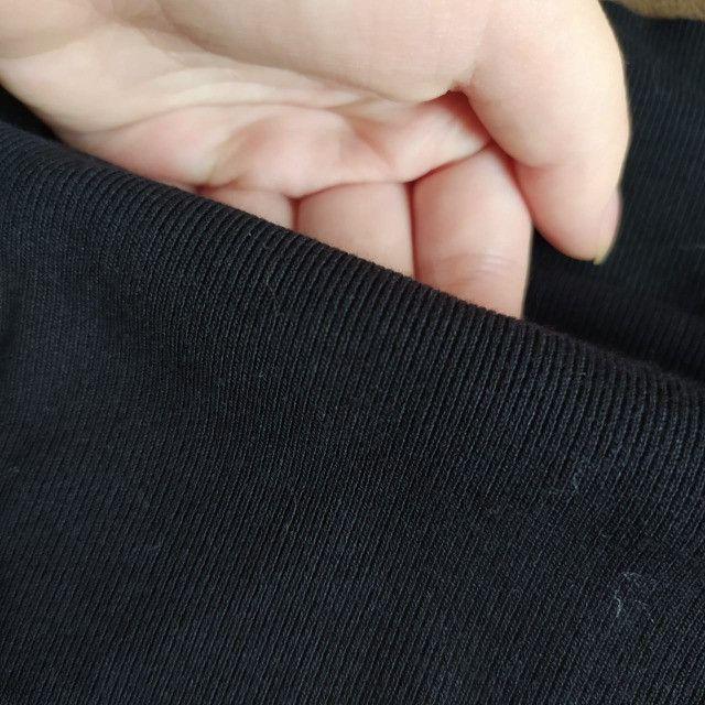 Tecido canelado ribana preto - Foto 3