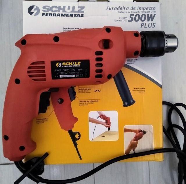"""Furadeira de impacto 1/2"""" 500 watts velocidade reversível 110V Kit 41 peças - Foto 3"""