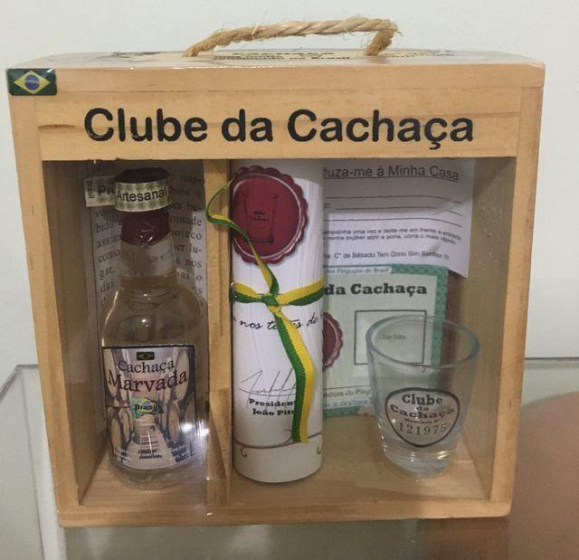 Kit Clube Da Cachaça Decoração E Presente 50ml miniatura